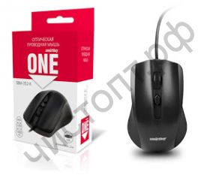 Мышь провод.USB Smartbuy ONE 352 черная (SBM-352-K)