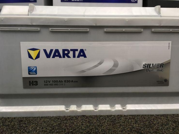 АКБ 100Ah (- +) стд.VARTA Silv 600402083 H3 (830)