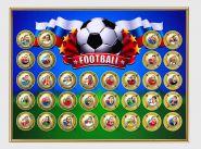 VIP подарок! Планшет формата GRAND с монетами - НАБОР 32 ШТУКИ 10 РУБЛЕЙ ЛУЧШИЕ ФУТБОЛИСТЫ МИРА, ЦВЕТНАЯ ЭМАЛЬ и ГРАВИРОВКА