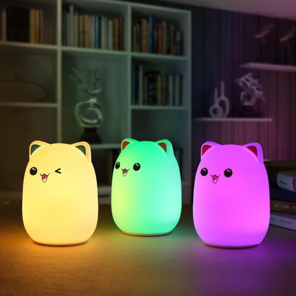 Мягкий силиконовый ночник Colorful Silicone Lamp мишка