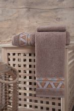 "Полотенце махровое   ""KARNA"" GIZA  (коричневое) 50*90 Арт.3193-4"