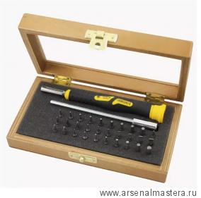 Набор бит Microline Profi с отверткой в деревянной коробке NAREX 850110