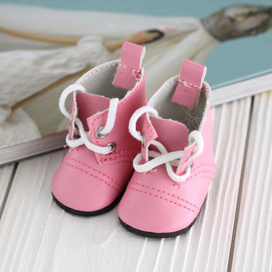 Обувь для кукол - сапоги 5 см (розовые)