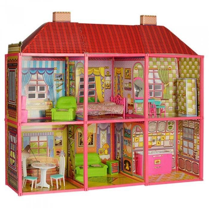 6983 Кукольный домик с набором мебели для каждой комнаты