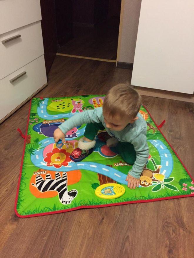 """Музыкальный танцевальный коврик-коробка для детей """"Зоопарк"""" Foldable Music Storage Box"""