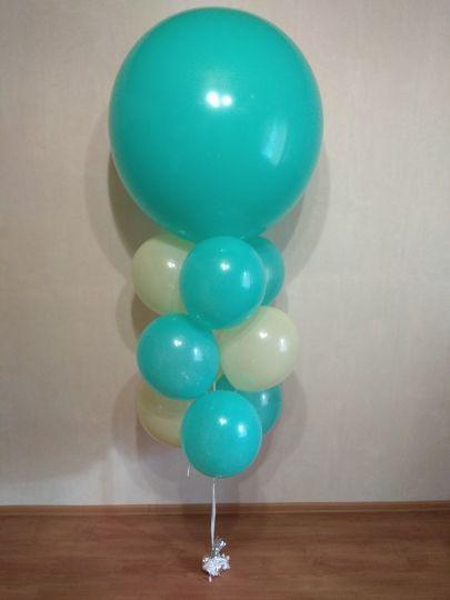 Фонтан из 9 шаров и метрового шара