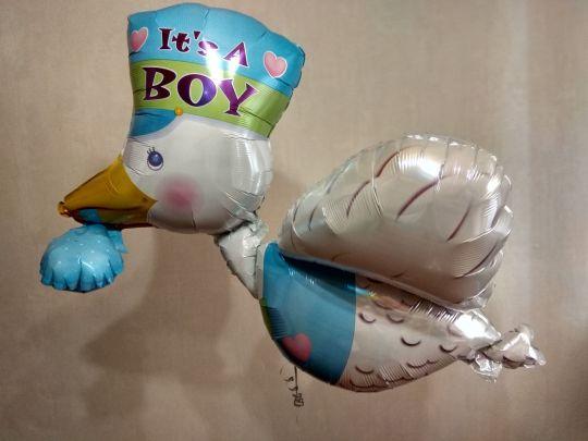 Аист #2 фольгированный шар с гелием