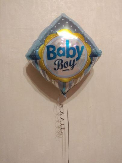 Ромб Baby мальчик фольгированный шар с гелием