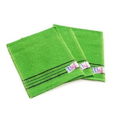 Жесткая мочалка для душа из вискозы Viscose Squared Bath Towel 13,5х15см
