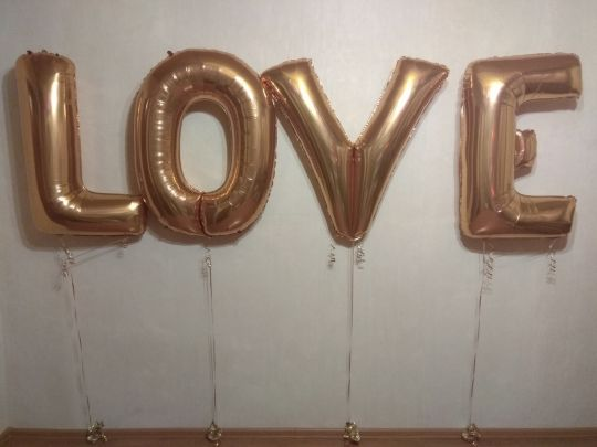 LOVE набор из 4 метровых букв с гелием на грузиках