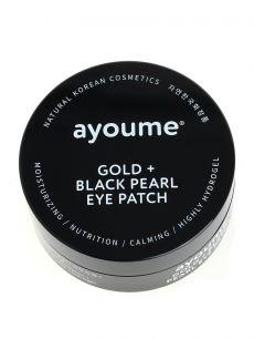 """""""АЮМ"""" GOLD+BLACK PEARL EYE PATCH Патчи для глаз от темных кругов с золотом и черным жемчугом  1"""