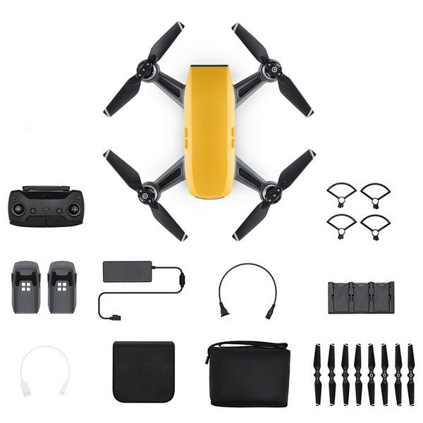 Квадрокоптер DJI Spark Combo (Sunrise Yellow, желтый)