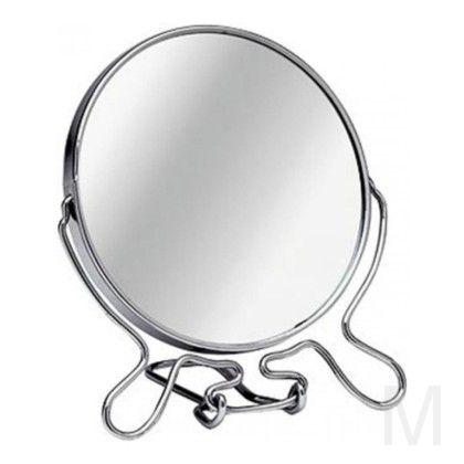 Зеркало настольное двухстороннее с увеличением 11 см