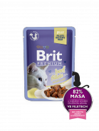 Brit Premium Cat Pouch with Beef Fillets in Jelly for Adult Cats  КУСОЧКИ ИЗ ФИЛЕ ГОВЯДИНЫ В ЖЕЛЕ (85гр)