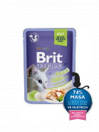 Brit Premium Cat Pouch with Trout Fillets in Jelly for Adult Cats КУСОЧКИ ИЗ ФИЛЕ ФОРЕЛИ В ЖЕЛЕ (85гр)