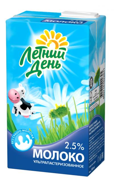 Молоко Летний День ультрапаст  0.95 Жирность 2,5%