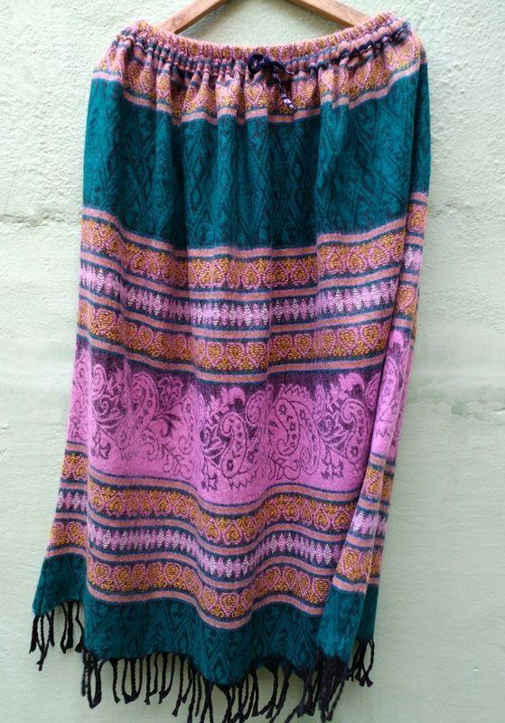Длинная теплая юбка красивой расцветки (СПб) *
