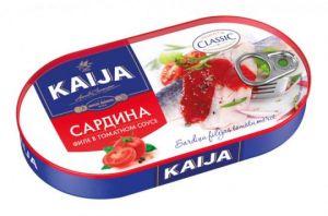 Сардина филе в томатном соусе Kaija 170 г