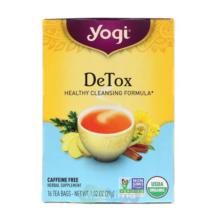 Yogi Tea Очищающий чай Detox, 16 пакетиков