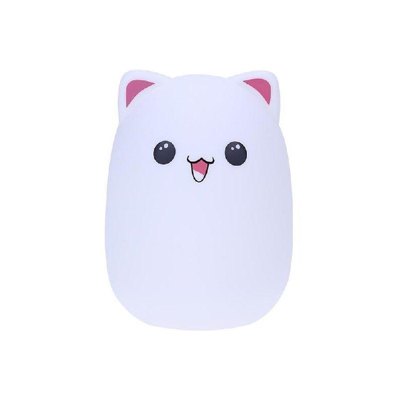 Мягкий силиконовый ночник Colorful Silicone Lamp, Розовый Мишка