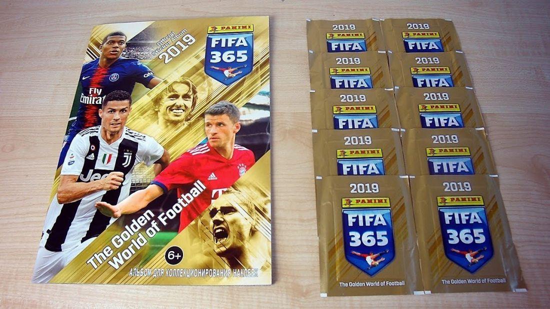 """Альбом """"Panini FIFA 365-2019"""" + 50 пакетов с наклейками"""