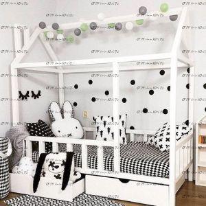 Кровать-домик с ящиками Ненси Люкс №В