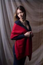 """стильный шарф 100% шерсть мериноса,  расцветка """"Классический Алый""""  Classic Red  , средняя плотность 4"""