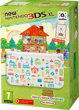 Игровая приставка Nintendo New 3DS XL Animal Crossing Happy Home Designer