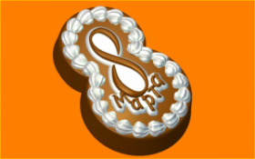 Форма для мыла и шоколада 8 Прожное