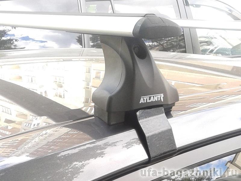 Багажник на крышу Honda Civic 2012-..., Атлант, с крыловидными аэродугами