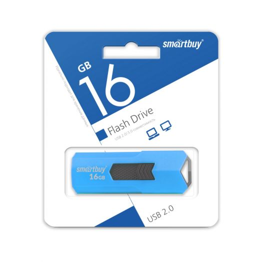 USB накопитель Smartbuy 16GB STREAM Blue