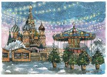 Почтовая открытка Рождественская ярмарка