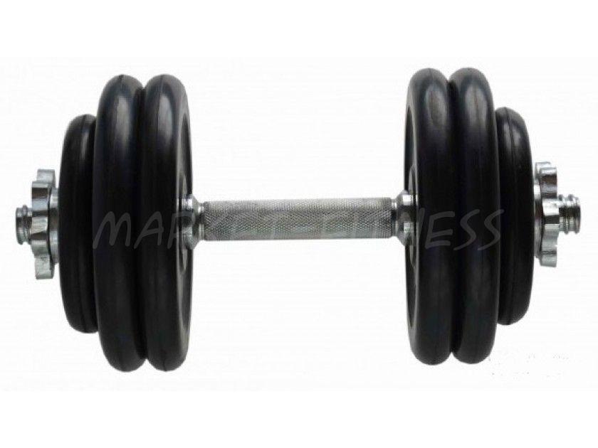 Гантель MB Barbell Atlet d.25мм 15кг (хромированный гриф)