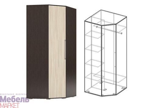 Спальня Берта 1 - Шкаф угловой (венге/ясень шимо cветлый)