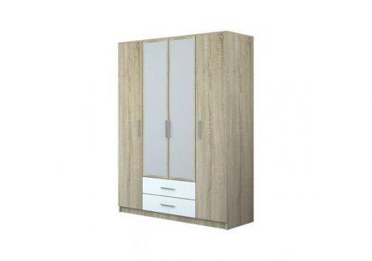 Шкаф 4-х створчатый с зеркалом Бергамо