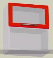 Шкаф навесной с нишей горизонтальный стекло