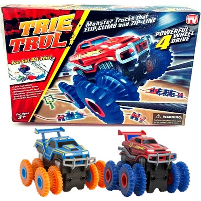 Канатный трек Монстр-трак с двумя машинками Trie Trul