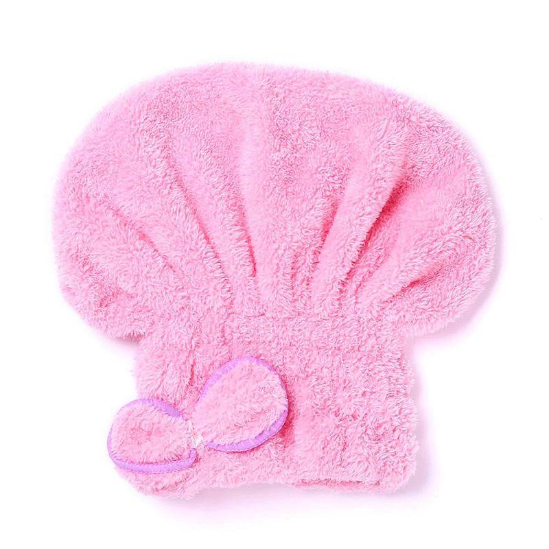 Мягкая Махровая Шапочка Для Быстрой Сушки Волос, Цвет Светло-Розовый