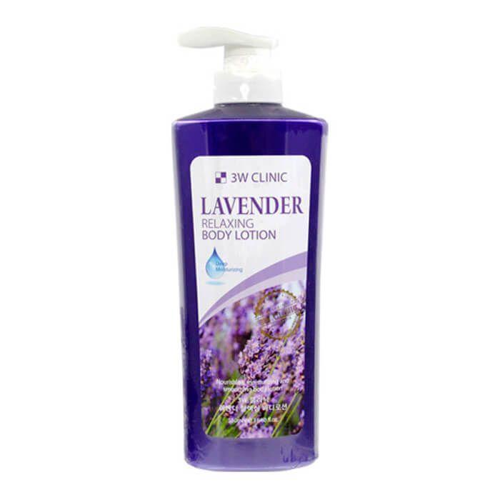 "[3W CLINIC] Лосьон для тела ЛАВАНДА ""Relaxing Body lotion"" 550 мл"