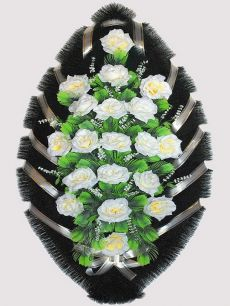 Траурный венок из искусственных цветов #27