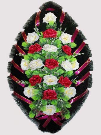 Траурный венок из искусственных цветов #26