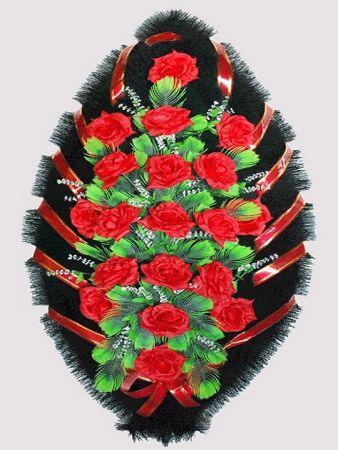 Траурный венок из искусственных цветов #22