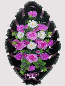 Траурный венок из искусственных цветов #17