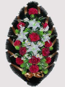 Траурный венок из искусственных цветов #13