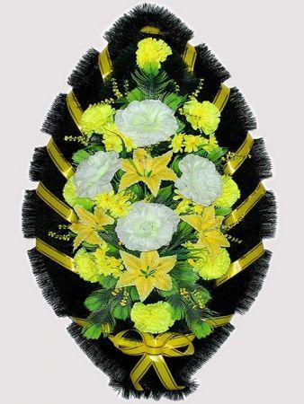 Траурный венок из искусственных цветов #9