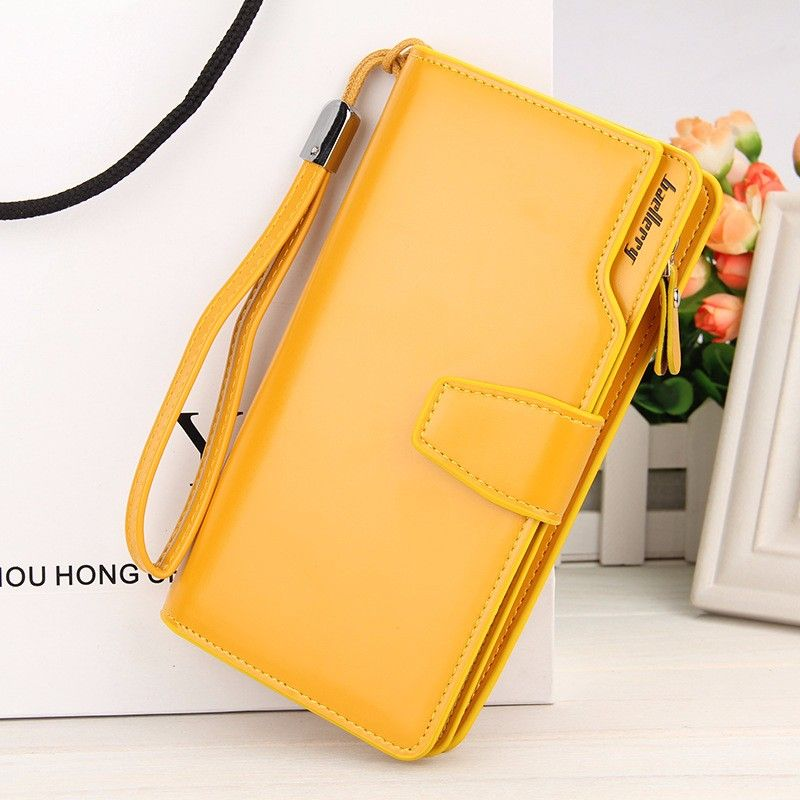 Кошелёк Woman Baellerry Wallet Pu Clutch Bag, Цвет Желтый