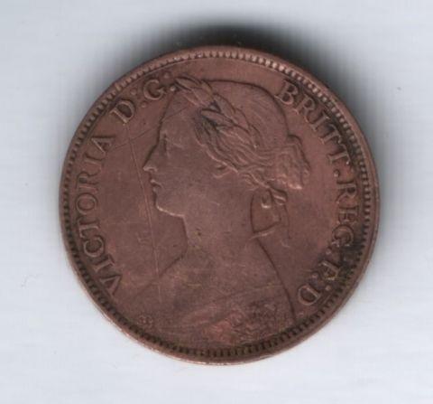 1 фартинг 1860 года Великобритания
