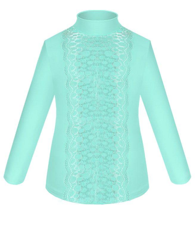 Бирюзовая школьная блузка для девочки