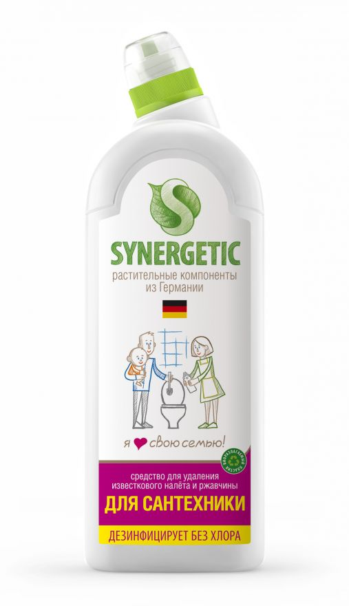 Средство для чистки сантехники, ванн, раковин, душевых кабин Synergetic (Синергетик) 1000 мл