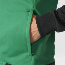 Спортивная кофта adidas Tiro 17 Polyester Jacket чёрно-зелёная